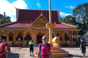 Jane at Temple in Vietnam
